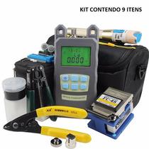 Kit Ferramenta Fibra Óptica Ftth Power Meter Clivador Maleta