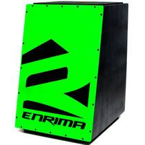 Cajon Eletro Acústico Carron Enrima Série Fluo Verde