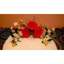 Rosas Ramo En Porcelana Fria Para Tortas