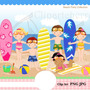 Kit Imprimible Fiesta Playa Mar 3 Imagenes Clipart