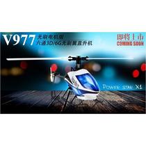 V977 Helicóptero 6 Canais Brushless + Bateria 450 Mah Grátis
