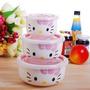 Kit 3 Potes Tigelas Ceramica Hello Kitty Importado