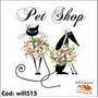Adesivo De Parede Pet Shop Veterinário Cachorros Will515
