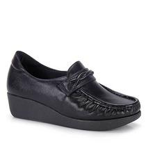 Sapato Anabela Conforto Feminino Usaflex - Preto
