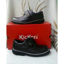 Zapatos Escolares Colegiales Kickers Talla 36 Negro Niño