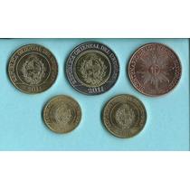 Monedas Uruguay Nueva Serie 50, 10, 5, 2, 1 Pesos S/c