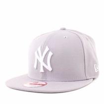 Boné Aba Reta New York Ny Yankees Cinza Snapback