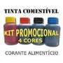 Tinta Comestivel Corante 400ml Papel Arroz House Of Printers