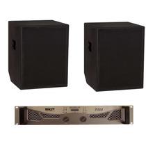 Par Caixa Subgrave Passiva 18 T18 Naval + Amplificador 7200