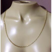 Cordão Corrente Cadeado De Ouro 18k Masculino 3mm 60cm
