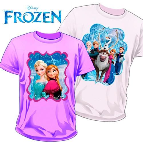 05c179bf42c82 Playeras Frozen Estampadas A Todo Color Super Dctos Mayoreo -   60.00 en  Mercado Libre