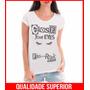 Camiseta Rendada Blusa T-shirt Roupas Feminina Banda De Rock