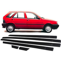 Jogo Friso Lateral Borrachão Preto Fiat Tipo 4 Portas