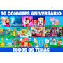 50 Convites Infantil Aniversário-frete Grátis Personalizado
