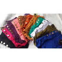 Kit 10 Shorts Hot Pants Colorido Roupas Feminina Cintura Alt