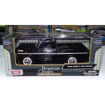 1:24 Ford F100 Pick Up 1969 Negro Motor Max Con Caja