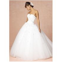 Vestido De Novia Modelo Princesa Importado Escote Corazon
