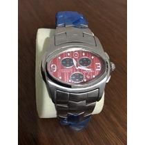 Relógio Ferrari Ma8118 - Vermelho C/ Preto + Nota Fiscal