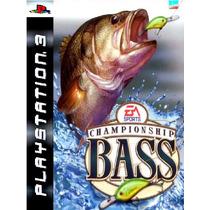 Championship Bass Pescaria Ps3 Psn Midia Digital Original
