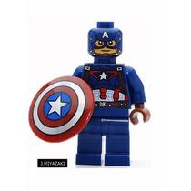 Capitão América Lego Compatível Super Heroes Marvel