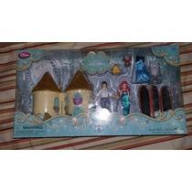 Ariel Sirenita Mini Castillo Y Figuras Disney Store En Caja