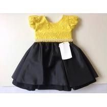 Vestido Abelha Infantil Luxo