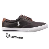 Sapato Tênis Sapatenis Polo Masculino Original Lona Couro