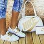 Kit Bolsa E Sapatenis Nike Perfeito Sapato Do 35 Ao 39