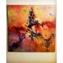 Cuadro Abstracto En Oleo Original- Firmado 100cmx100cm