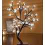 Luminária Cerejeira 60 Leds Pisca Branco 45cm Árvore Natal