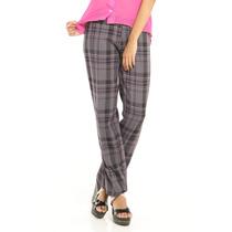 Pantalon De Vestir Gris Cuadros Rosa Saints Clothes