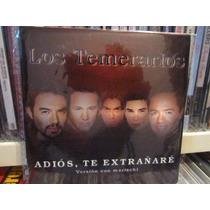 Los Temerarios, Adios Te Extrañare,cd Single Unica Pieza