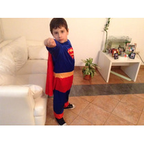 Disfraz De Superman Talle 7 A 9 Años Halloween Dia Niño