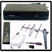 Kit Completo Tv Digital Tda Antena Ext Decodificador Garanti