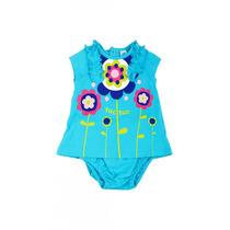 Vestido Bebé Niña Azul Tuc Tuc Marca Española 3 Meses Nuevo