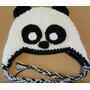 Gorro En Crochet De Oso Panda Para Bebé De 3 A 6 Meses. 40cm