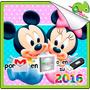 Kit Imprimible Mickey Minnie Bebe Fiesta Tarjetas Cumpleaños