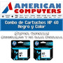 Combo Cartuchos Hp 60 Originales F4280 F4480 Caja Cerrada