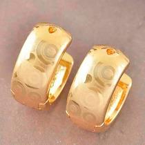 Preciosos Aretes Argollas Oro Laminado De 9k