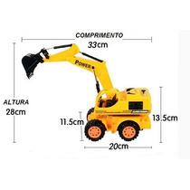 Trator Escavadeira Power 678 Truck Controle Remoto Damadores