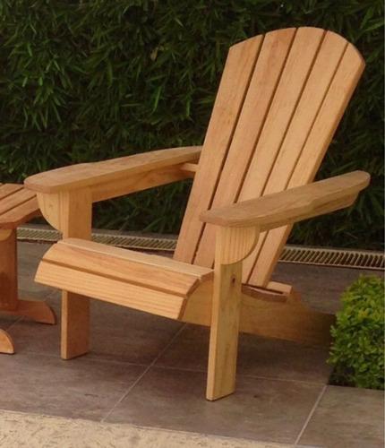 Silla adirondack madera de pino surf descanso playa jardin - Sillas madera jardin ...