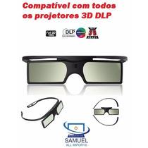 2 Óculos 3d Dlp Ativos Projetores Optoma Benq Acer Vivitek