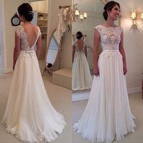 Vestido De Noiva Novo - Pronta Entrega Com Frete Gratis