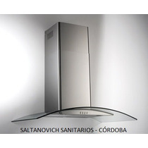 Campana Para Cocina Tst Lacar 75cm Inox/cristal Frente Curvo