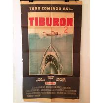 Antiguo Afiche De Cine Original - Todo Comenzo Asi - Tiburon