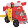 Brinquedo Menino Caminhão Bombeiros Grande C/ Som Merco Toys
