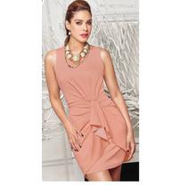 Oferta Vestido Cklass Rosa Palo Otoño Invierno 2015 Nuevo