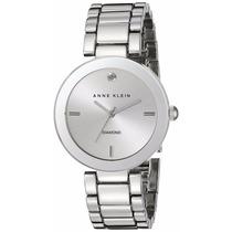 Reloj Anne Klein Diamond Plateado Acero Mujer Ak/1363svsv