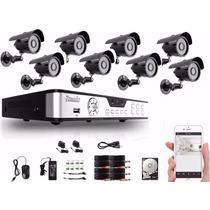 Kit Camaras Seguridad Dvr Zmodo 8ch 8cam 700tvl Disco 500gb