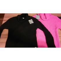 Sweater Vero Alfie Cuello Alto Negro O Fuscia!!